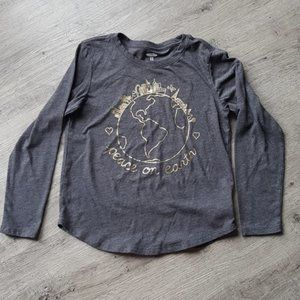 Old navy grey peace tee